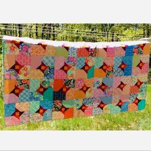 Handmade by The Maple Closet Bedding - Brand New Colorful Reversible Quilt